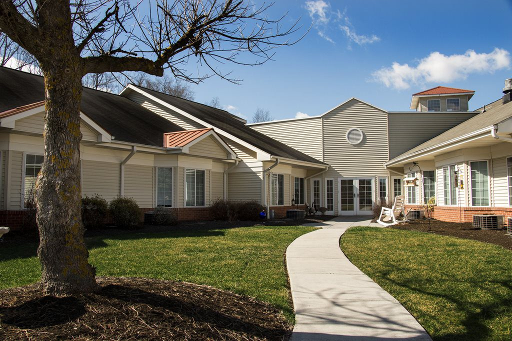 Row of beautiful homes for seniors