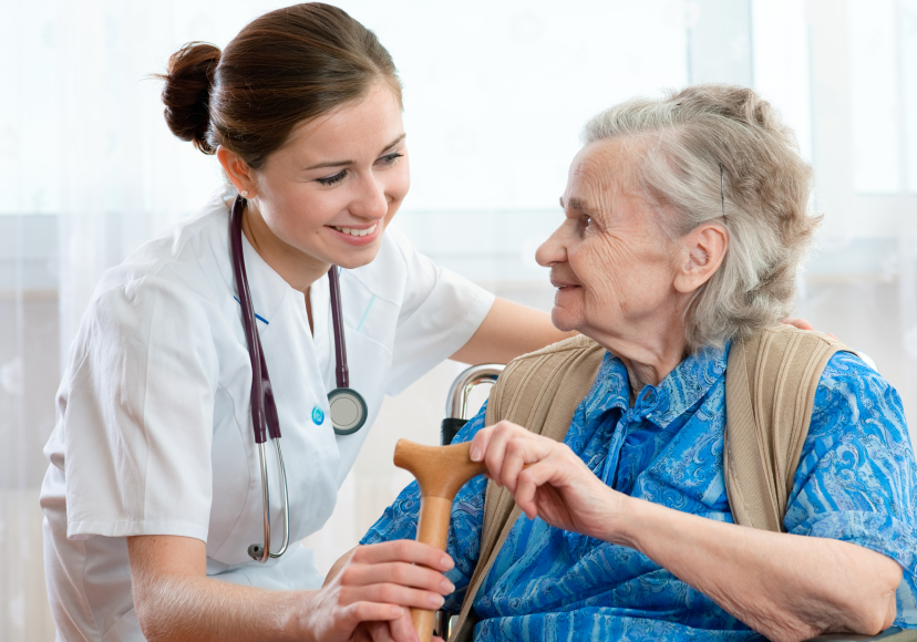 medical assistant with senior citizen